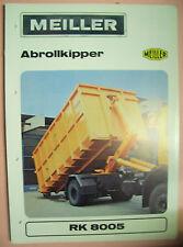 VENTAS FOLLETO broschürelkw ANTIGUO ORIGINAL meiller Camión AUXILIO RK 8005
