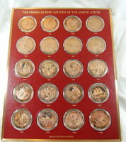 Franklin Mint History of USA ~ Bronze Coin Set