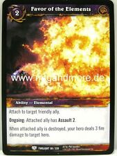 WoW - 4x Favor of the Elements - Twilight of the Dragons
