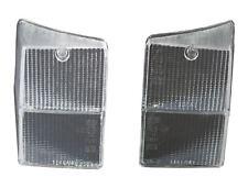 Classic Mini Clear Rear Tail Light Lens PAIR White XFJ10026 XFJ10027 Lucas
