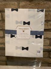 Pottery Barn Teen Emily & Meritt 3 PC The Bow XL Twin Sheet Set -Black/Ivory New