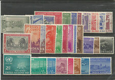 INDIA 1947 to 1955 COMPLETE YEAR PACK MINT EXCEPT GANDHI WHITE GUM MNH SUPERB