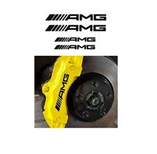 4x AMG Logo Bremssattel Aufkleber schwarz / hitzebeständig!