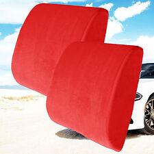 2  Memory Foam Back Lumbar Support Pillow Car Seat Home Office Chair Cushions
