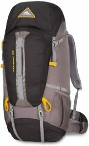 High Sierra Pathway Hiking Backpack 60L Black/Slate/Gold 79548-5745