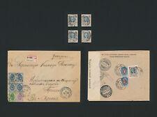 RUSSIA COVERS: 1915 ROMANOV TO FINLAND CENSORED & 1906 KHERSON REG COVER