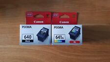 GENUINE CANON 1 x PG 640 BLACK 1 x CL 641XL Color MG2160/MG3160/MG4160/MX376/436