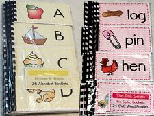 Montessori Materials - 50 booklets - Alphabets & Pink Series Cvc Words