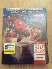 Disney BIG HERO 6 Blu-Ray DVD Digital HD Movie Target Exclusive STEELBOOK CASE