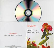DAUGHTRY Long Live Rock & Roll UK 1-tk promo test CD