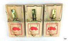 Mausefalle klassisch 3er-Pack Holz Mouse trape Schlagfalle NEU