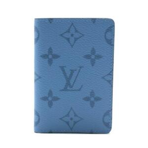 LOUIS VUITTON Organizer Pocket Card Case M30760 Taigarama  Denim blue Used