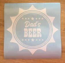 2x Dads Beer Decal vinyl sticker Hamper Beer Crates Fathers Day Birthday Gifts