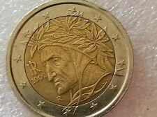 Moneta Da 2 Euro Dante Alighieri 2002 Rara