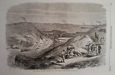 1869 PRINT THE ISTHMUS OF SUEZ MARITIME CANAL : THE CUTTING NEAR CHALOUF