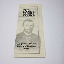 The Land of Grant Tours Pamphlet History Southeastern Ohio