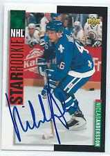 Niklas Andersson signed 1993-94 Upper Deck Nordiques autograph #239 Sweden