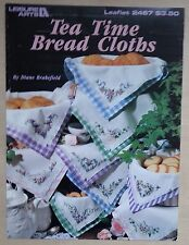 #) LEISURE ARTS grilles point de croix TEA TIMES BREAD CLOTHS