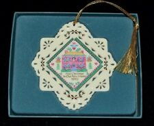 Lenox White First Christmas in Our New Home Christmas Ornament in Box n