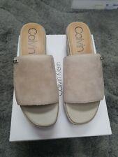 Calvin Klein Nehlah Kid Suede Wedge Sandals Uk3