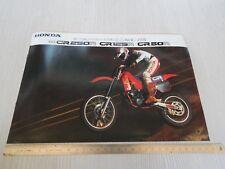 rara brochure originale Honda cr 250 125 80 cross motocross depliant prospekt