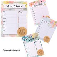 Planificador Semanal - Hogar Compras To Do List Comida Bloc de Notas Azar Diseño