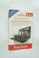 SanDisk Elevate 64 GB Cruzer Glide USB Flash Drive With Free RescuePRO Software
