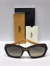46b7607276d7 FENDI FF 0007 S 7QQED Opal Brown Yellow Sunglasses Made Italy Authentic COA  CASE
