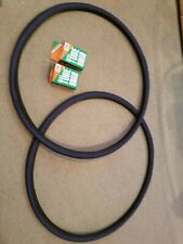 TWO(2) DURO 700x25C BLUE LINED BICYCLE TIRES + Tubes Road Fixie Black/Blue
