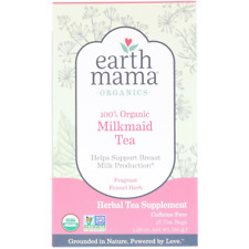 NEW EARTH MAMA ANGEL BABY ORGANIC MILKMAID TEA GMO & CAFFEINE FREE BREASTFEEDING