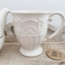 IVORY CREAM VINTAGE STYLE SHABBY FRENCH CHIC COFFEE CUP MUG KITCHEN DRESSER GIFT