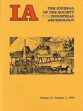 IA Journal of the Society For Industrial Archeology 1996 Vol 22 No 2