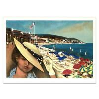 """Robert Vernet Bonfort """"Cannes"""" Signed Limited Edition Lithograph on Paper"""