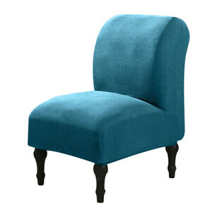 Accent Chair Cover Armless Slipper Chair Protector Stretch Jacquard Slipcover XL