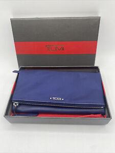 New Tumi Voyageur Travel Wallet Wristlet Ultramarine (MSRP $ 245) With Gift Box