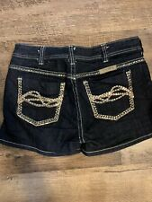 Cowgirl Tuff Western Sequin pattern Shorts Womens Size 30