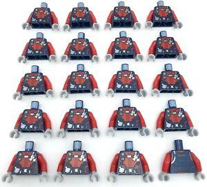 Lego 20 New Dark Blue Torso Diving Suit with Red Zippers Gauge Regulator Piece