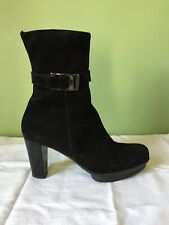 La Canadienne Marlie Women Black Mid Calf Boot Ankle Bootie size 10 Platform