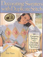 Decorating Sweaters With Duplicate Stitch Nola Theiss 1995 Softcover 60 Designs
