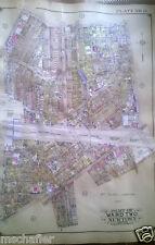 Orig 1927 E. Belcher Hyde Atlas Map MASPETH QUEENS NY JUNIPER - CLERMONT STREET