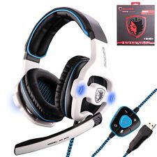 Sades SA903 7.1 Surround Sound USB Gaming Headset Headphone Headband Bass w/ Mic