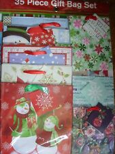 HOLIDAY GIFT BAGS 35 PIECE GIFT BAG SET DIFFERENT DESIGNS