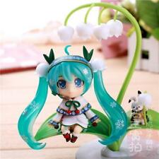 HOT Q Snow Hatsune Miku Lily of the Valley Lotus Painted Action PVC Figure Toy