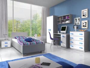 Jugendzimmer Jonas 02 II Kinderzimmer Set Komplett Möbel Modern Kleiderschrank
