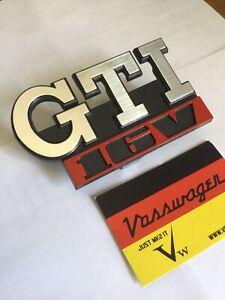 🇩🇪 BRAND NEW GOLF MK2 GTI 16v FRONT GRILL BADGE FOR 5 SLAT VW GRILLE