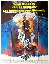 Affiche 120x160cm LES DIAMANTS SONT ÉTERNELS /DIAMONDS ARE FOREVER Sean Connery