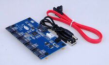 SATA 1 to 5 Ports Multiplier Extender Adapteur Riser Carte SATA Hub 3Gbps SATAII