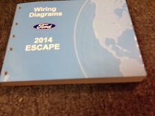 2014 Ford Escape Electrical Wiring Diagram Troubleshooting Manual EWD Factory