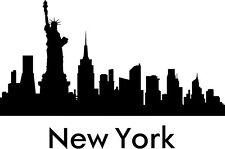 Aufkleber Sticker Wandtattoo Silhouette New York 01 300 x 200mm fr. Farbwahl
