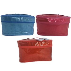 Glitter Makeup Bag Case Lined Red Blue Pink NWT New w/ Tags Storage Gift Beauty